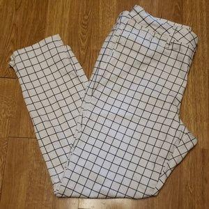 NYDJ Windowpane ankle pant size 12
